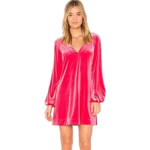 Free People Pink Velvet Dress